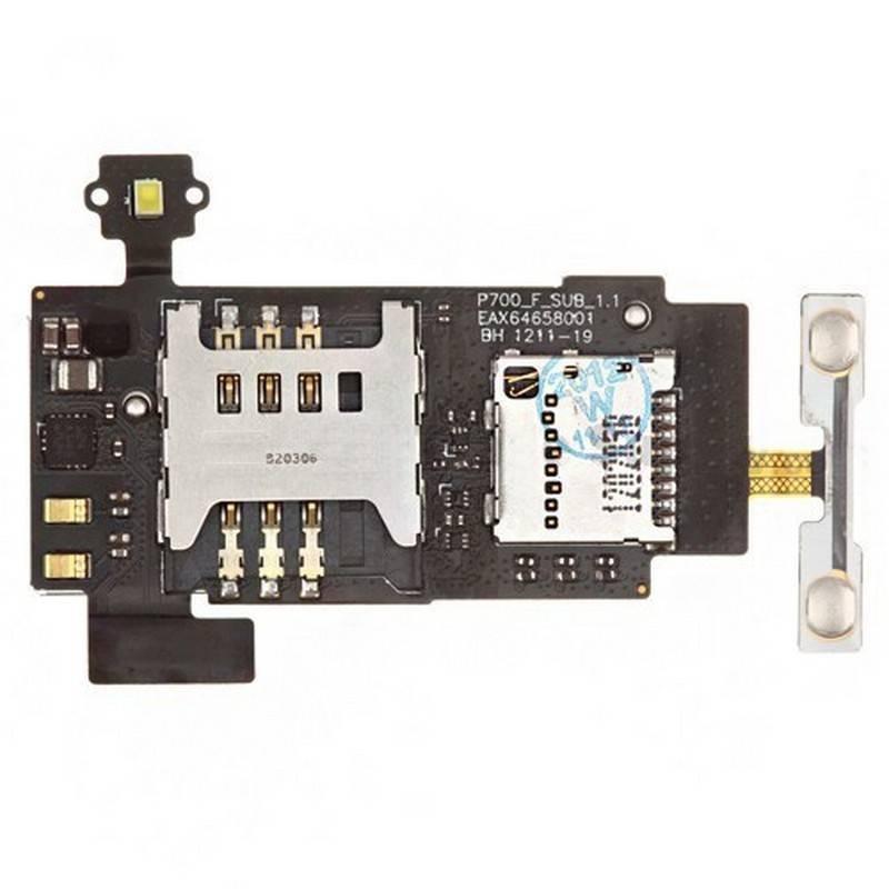 Lector SIM y MicroSD Original LG Optimus L7, P700
