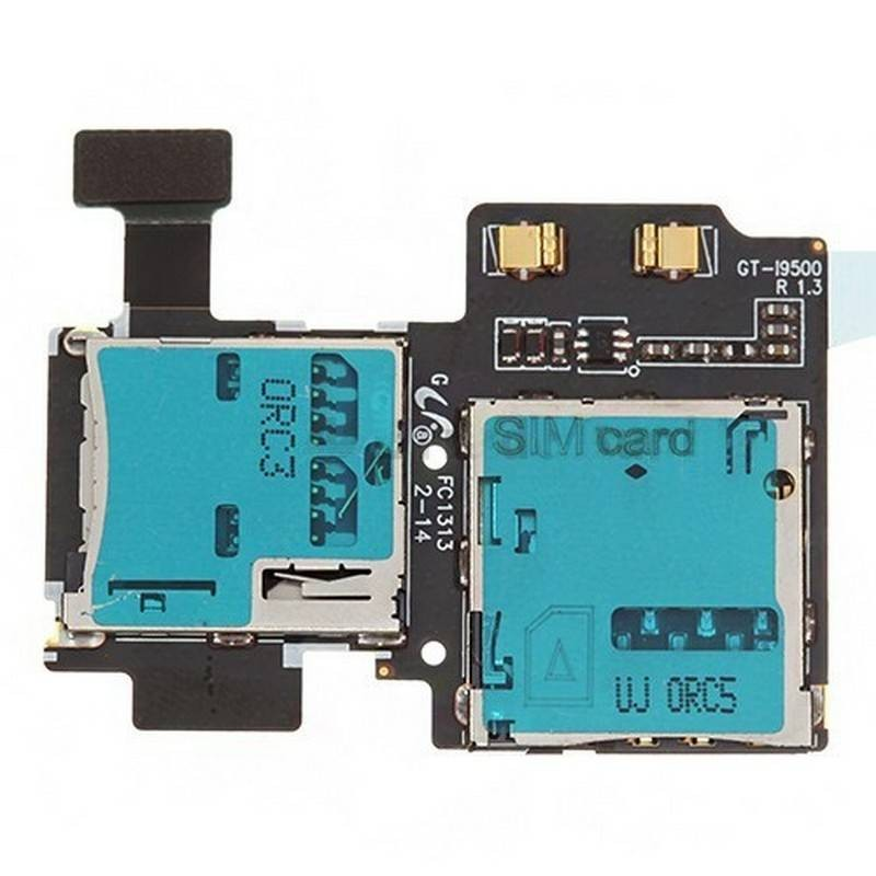 LECTOR SIM Y MEMORIA SAMSUNG GALAXY S4, i9500/I9505/i9506
