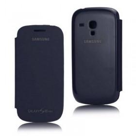 FUNDA con tapa Samsung Galaxy S3 MINI I8190 azul
