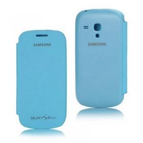funda con tapa samsung s3 mini azul