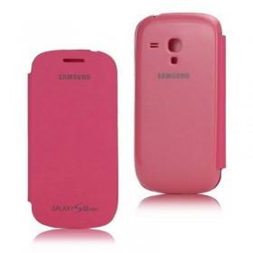 FUNDA con tapa Samsung Galaxy S3 MINI I8190 ROSA