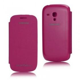 FUNDA con tapa Samsung Galaxy S3 MINI I8190 MORADO