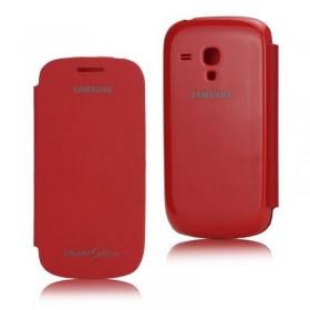 FUNDA con tapa Samsung Galaxy S3 MINI I8190 rojo