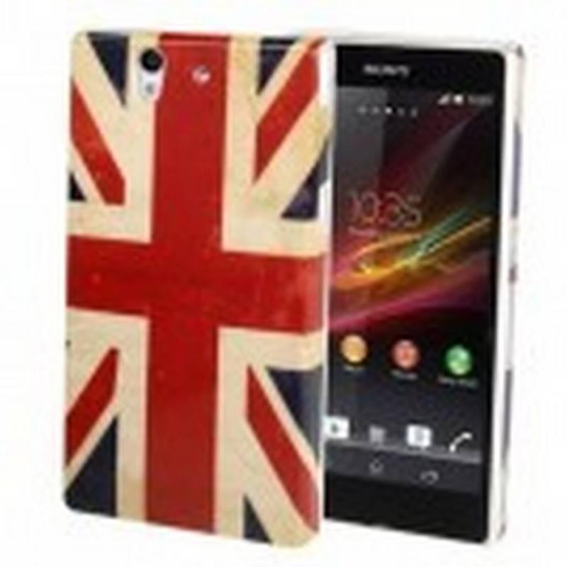 Funda Carcaça Dura para Sony Xperia Z L36h Bandera Reino Unido Inglaterra Envejecida