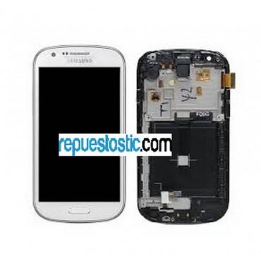 pantalla completa con marco samsung galaxy express i8730 blanca