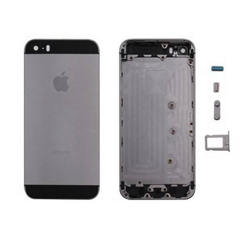 tapa carcasa trasera para iphone 5s color gris