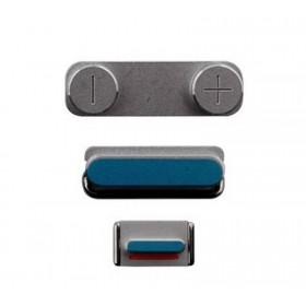 set de botones iphone 5s color plata