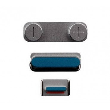 set de botones iphone 5s color plata