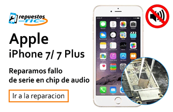 Reparamos chip de audio/ sonido iphone 7/ 7 Plus